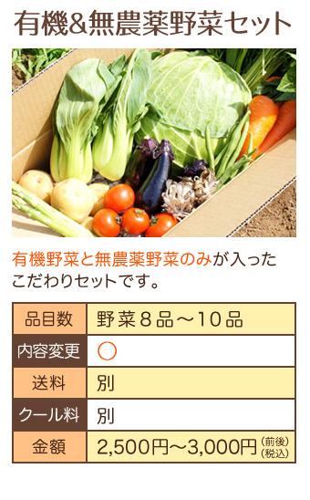 無農薬ミレー野菜セット3
