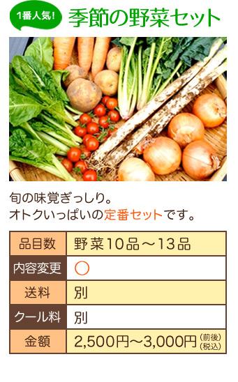 無農薬ミレー野菜セット2
